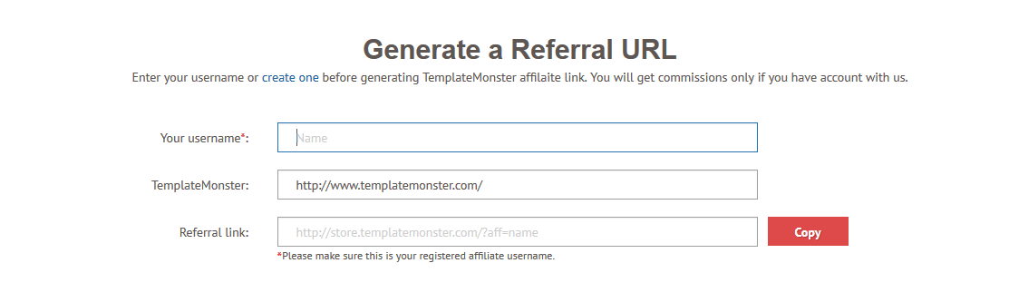 templatemonster affiliate tools for your business niche