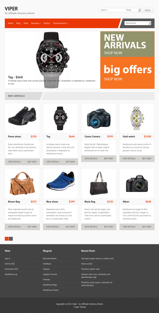 Top 11 Free Wordpress Themes For Affiliate Marketing