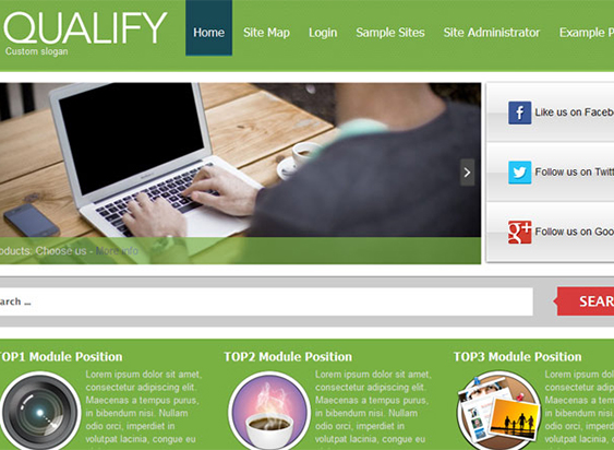 Joomla-30-Template-Qualify
