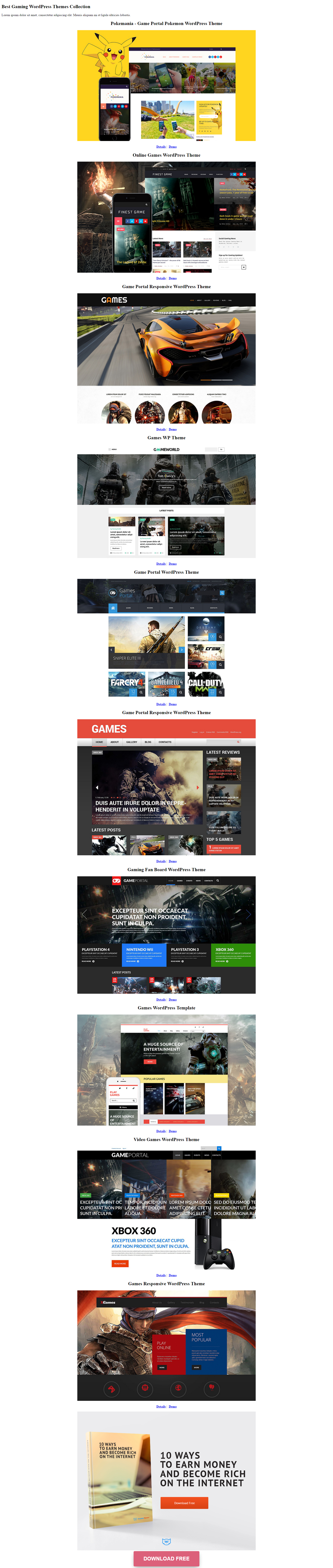 Best-Gaming-WordPress-Themes-Collection