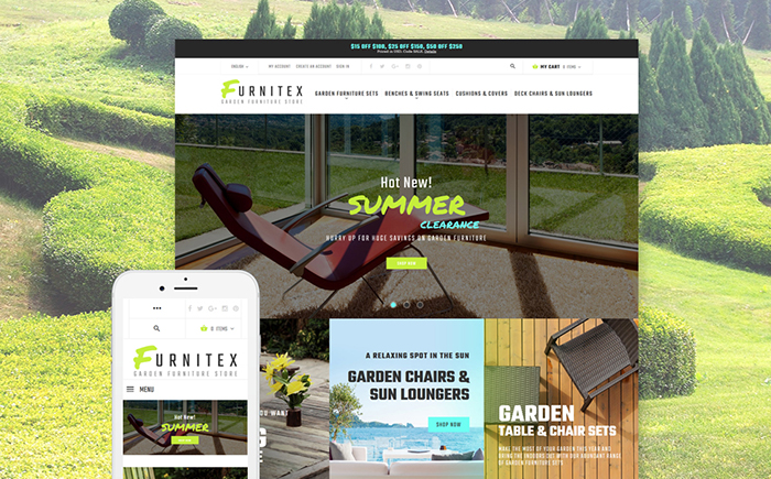 Garden Furniture Magento Template