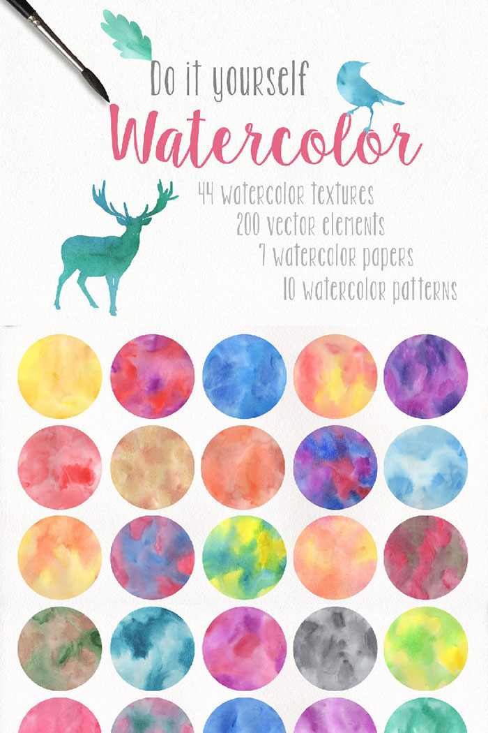 DIY Watercolor Collection Background