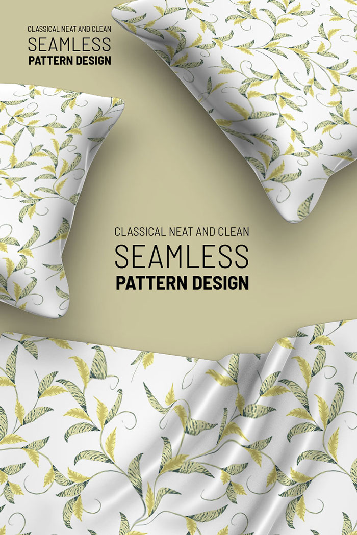 Delicate abstract floral seamless design Pattern