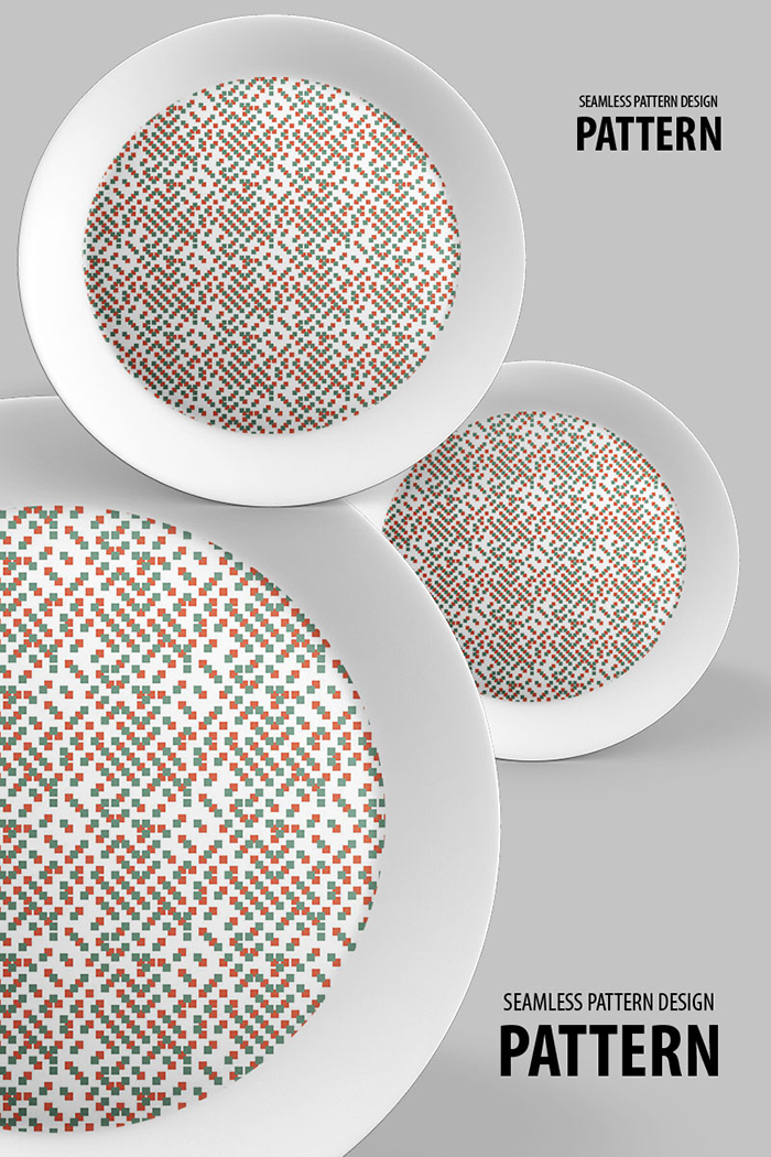 Scattered Cubic Dots Repeat Design Pattern